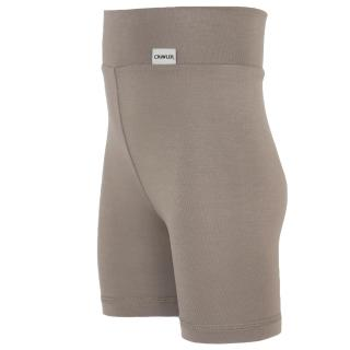 Kid's Bamboo High Waist Shorts Brown_Brown side