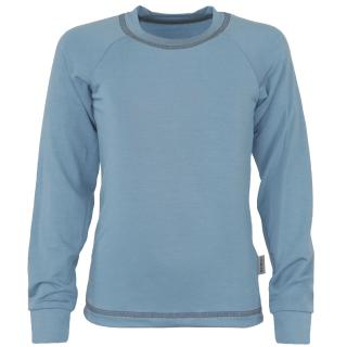 Kid's Bamboo Long Sleeve Round Neck T-shirt Grey-blue_Grey-blue