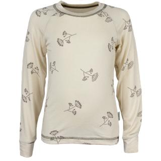Kid's Bamboo Long Sleeve Round Neck T-shirt Umbels_Beige