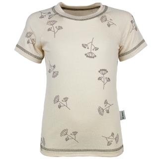 Kid's Bamboo Short Sleeve Round Neck T-shirt Umbels_Beige