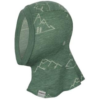 Kid's Merino 1layer Balaclava Mountains olive Olive