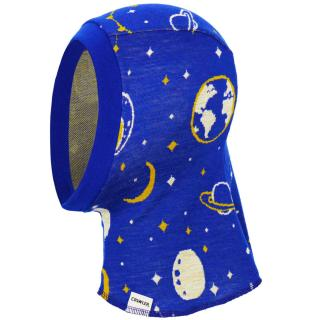 Kid's Merino 1layer Balaclava Universe Blue