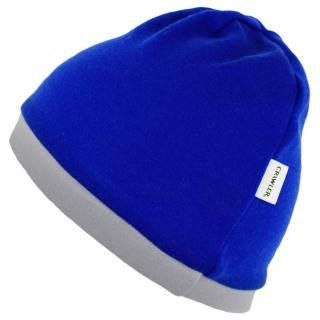 Kid's Merino 1layer Beanie Blue Grey