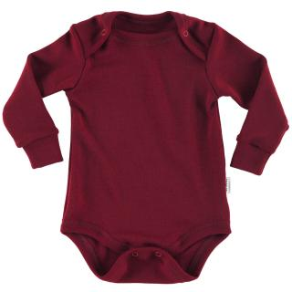Kid's Merino Long Sleeve Bodysuit Marsala