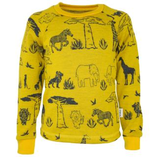 Kid's Merino Long Sleeve Round Neck T-shirt Africa Mango