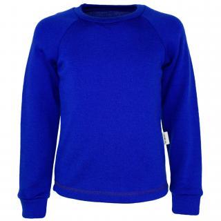 Kid's Merino Long Sleeve Round Neck T-shirt Blue