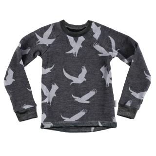 Kid's Merino Long Sleeve Round Neck T-shirt Eagle graphite Graphite