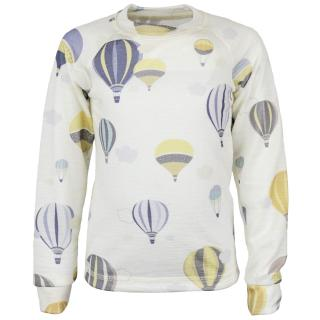 Kid's Merino Long Sleeve Round Neck Thin T-shirt Balloons Wholepatterned