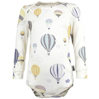 Kid's Merino Long Sleeve Thin Bodysuit Balloons Wholepatterned