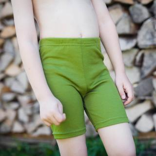 Kid's Merino Thin Shorts Green Detail