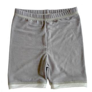 Kid's Merino Thin Shorts Grey Cream