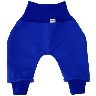 Kid's trousers for scarves and stretchers softshell/merino Blue