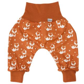Kid's trousers for scarves and stretchers softshell/merino Cream fox-rusty_Rusty