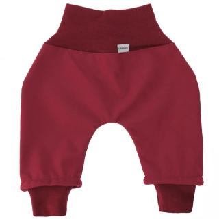 Kid's trousers for scarves and stretchers softshell/merino Marsala