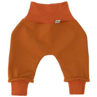 Kid's trousers for scarves and stretchers softshell/merino Rusty
