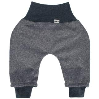 Kid's trousers for scarves and stretchers softshell/merino Streaky grey Graphite