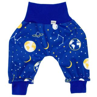 Kid's trousers for scarves and stretchers softshell/merino Universe Blue