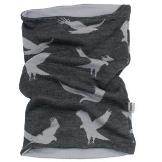 Men's Merino 2-layer Reversible Neck Tube Eagle graphite Grey