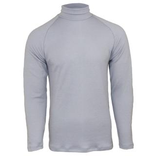 Men's Merino Polo Neck Sweater Grey