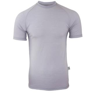 Men's Merino Short Sleeve Round Neck Thin T-shirt Grey