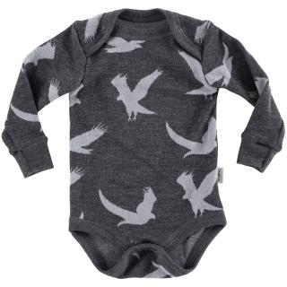 Kid's Merino Long Sleeve Bodysuit Eagle graphite Graphite