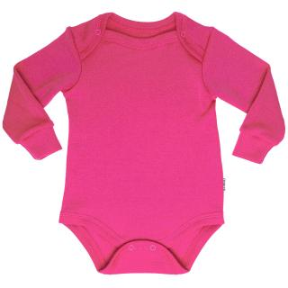 Kid's Merino Long Sleeve Bodysuit Pink