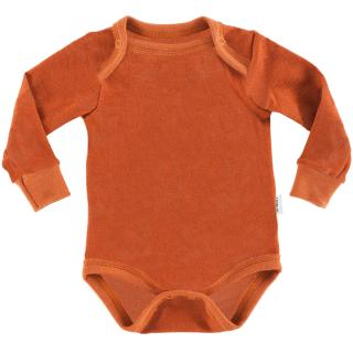 Kid's Merino Long Sleeve Bodysuit Rusty