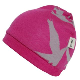 Kid's Merino 2layer Reversible Beanie Eagle pink Pink