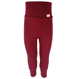 Kid's Merino High Waist Warm Leggings Marsala
