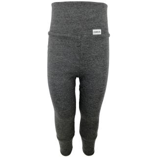 Kid's Merino High Waist Warm Leggings Graphite