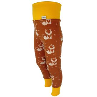 Kid's Merino High Waist Warm Leggings Cream fox - rusty Mango Side