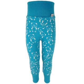 Kid's Merino High Waist Warm Leggings Teddy turquoise Turquoise