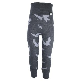 Kid's Merino High Waist Warm Leggings Eagle graphite Graphite