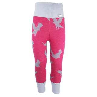 Kid's Merino High Waist Warm Leggings Eagle pink