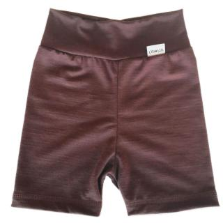 Kid's Merino High Waist Thin Shorts Brown