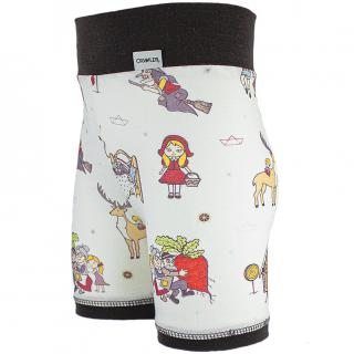 Kid's Merino High Waist Thin Shorts Fairytale Brown Side