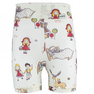 Kid's Merino High Waist Thin Shorts Fairytale Wholepatterned