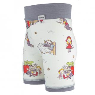 Kid's Merino High Waist Thin Shorts Fairytale Grey Side