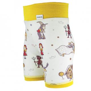 Kid's Merino High Waist Thin Shorts Fairytale Yellow Side