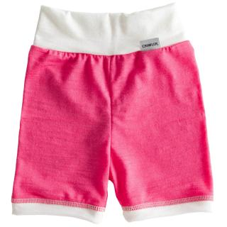 Kid's Merino High Waist Thin Shorts Pink Cream