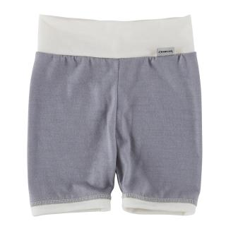 Kid's Merino High Waist Thin Shorts Grey Cream