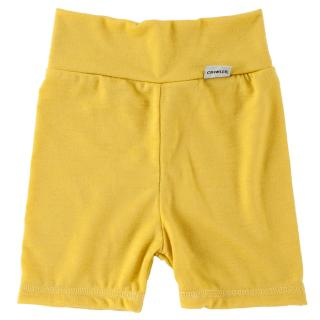 Kid's Merino High Waist Thin Shorts Yellow
