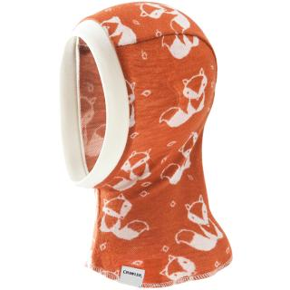 Kid's Merino 1layer Balaclava Cream fox - rusty Cream