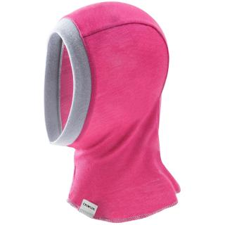 Kid's Merino 1layer Balaclava Pink Grey