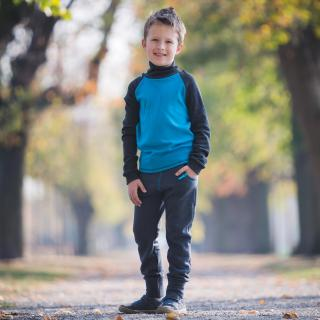 Kid's Merino Sweatpants with pockets Turquoise