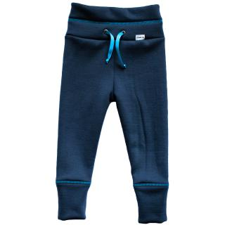 Kid's Merino High Waist Sweatpants Turquoise