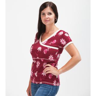 Women's Merino Short Sleeve Crossed Nursing T-shirt