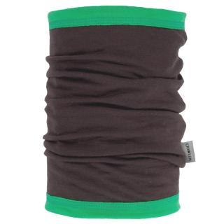 Women's Merino 1layer Thin Neck Tube Brown Green