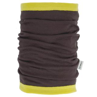 Women's Merino 1layer Thin Neck Tube Brown Yellow