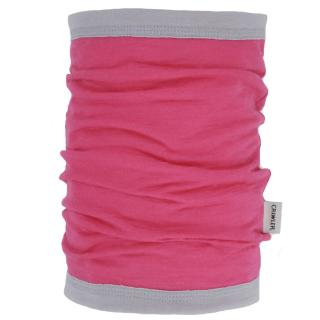 Women's Merino 1layer Thin Neck Tube Pink Grey